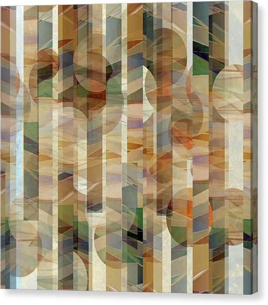 Canyon Circles And Stripes Canvas Print