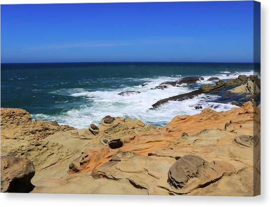 Canvas Print featuring the photograph Cape Arago Coast 6 by Dawn Richards