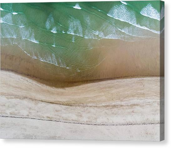 Cape Cod Beach Abstract Canvas Print