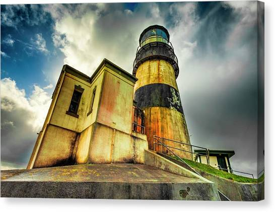 Cape Disappointment Lighthouse Under Dramatic Skies Canvas Print