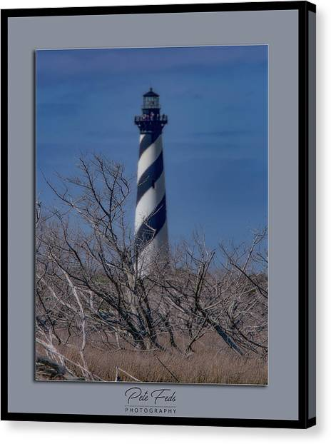 Canvas Print featuring the photograph Cape Hatteras Lighthouse by Pete Federico