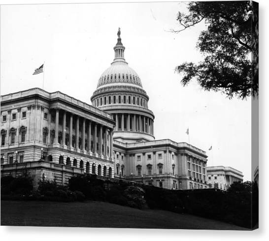 Parliament Hill Canvas Print - Capitol Building by Central Press
