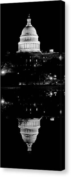 Capitol Upside Down Canvas Print