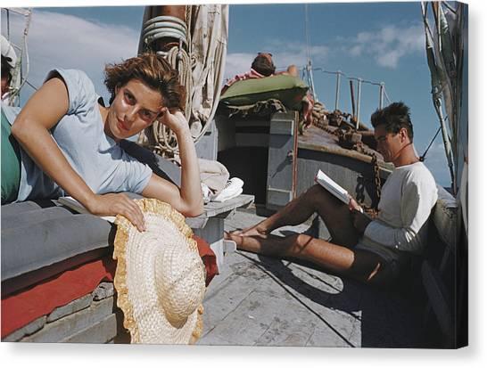 Capri Cruise Canvas Print by Slim Aarons