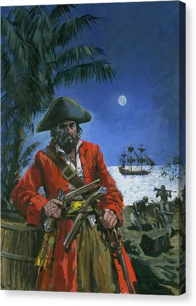 Buried Canvas Print - Captain Kidd by Graham Coton