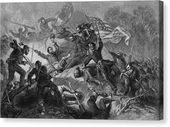 Capture Of Roanoke Canvas Print by Kean Collection