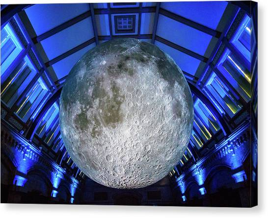 Celestial Sphere Canvas Print - Capture The Moon by Martin Newman