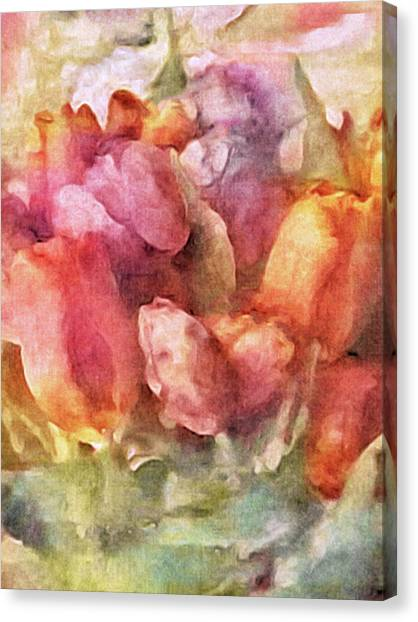 Canvas Print featuring the mixed media Captured Spring by Susan Maxwell Schmidt