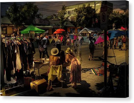 Canvas Print featuring the photograph Car-free Day No. 2 by Juan Contreras