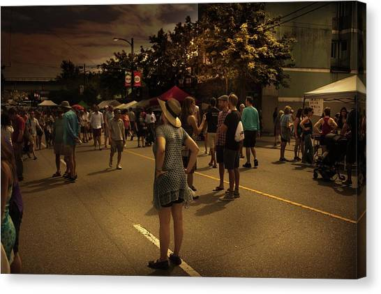 Canvas Print featuring the photograph Car-free Day No. 7 by Juan Contreras