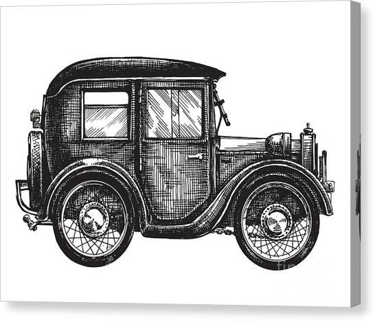 Speed Canvas Print - Car Vintage Vector Logo Design by Ava Bitter