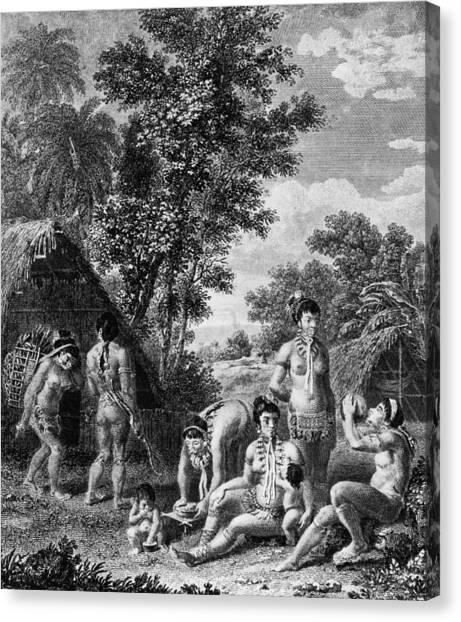 Carib Family Canvas Print by Hulton Archive