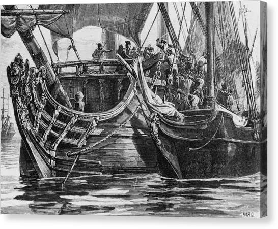Caribbean Pirate Canvas Print by Hulton Archive