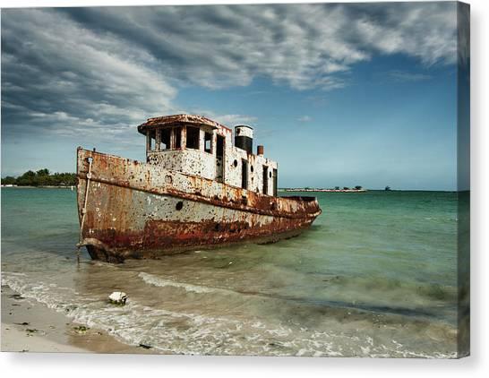 Caribbean Shipwreck 21002 Canvas Print