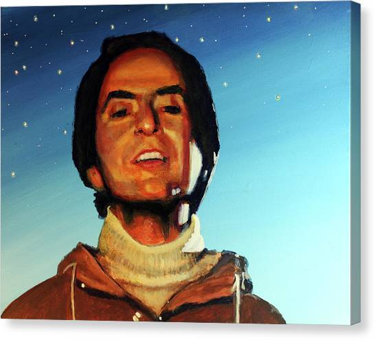 Carl Sagan Cosmos Canvas Print by Simon Kregar