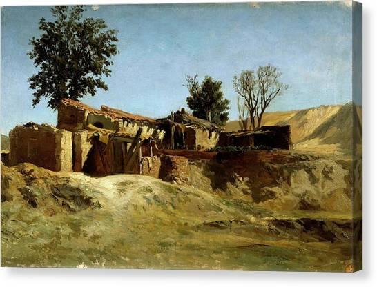 Dilapidation Canvas Print - Carlos De Haes / 'tile Factories On Principe Pio Hill', Ca. 1872, Spanish School. by Carlos de Haes -1829-1898-