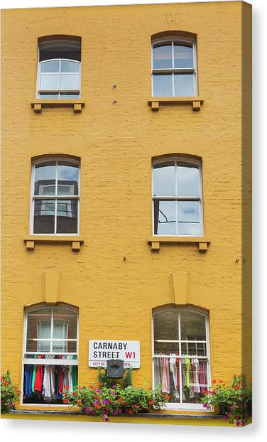 Clothing Store Canvas Print - Carnaby Street In London by Richard Boll