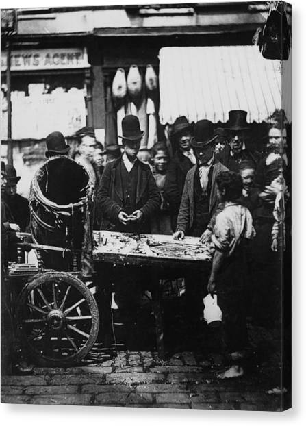 Carneys Fish Stall Canvas Print by Hulton Archive