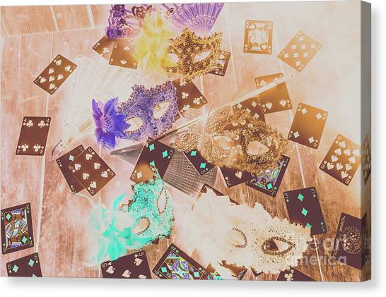 Masquerade Canvas Print - Carnival Of Cards by Jorgo Photography - Wall Art Gallery