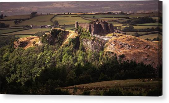Canvas Print featuring the photograph Carreg Cennen Castle by Elliott Coleman