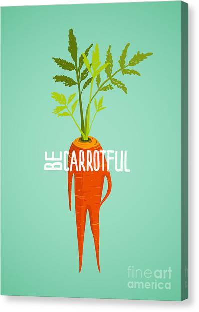 Ingredient Canvas Print - Carrot Diet Colorful Inspirational by Popmarleo