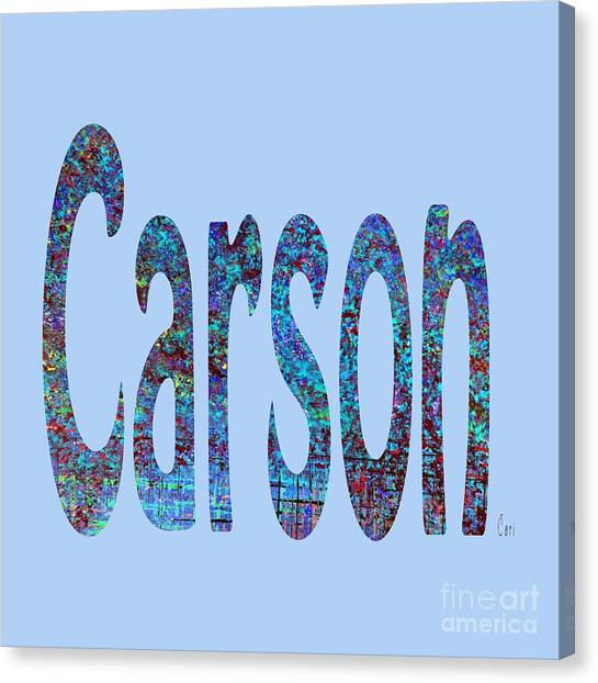 Canvas Print featuring the digital art Carson 2 by Corinne Carroll
