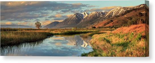 Carson Valley Sunrise Panorama Canvas Print