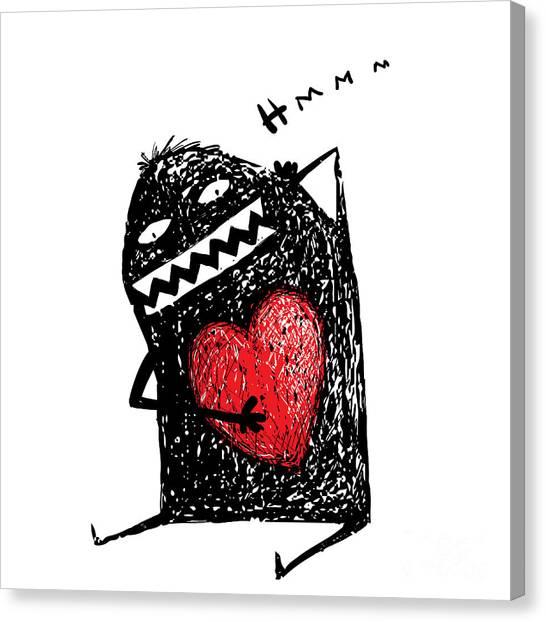 Humorous Canvas Print - Cartoon Fun Amazing Character Scribble by Popmarleo