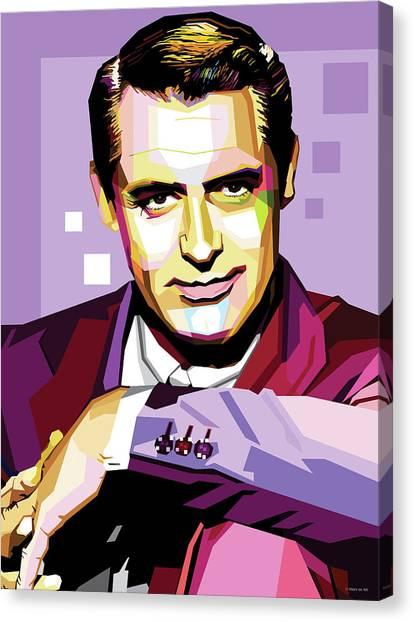 Cary Grant Pop Art Canvas Print