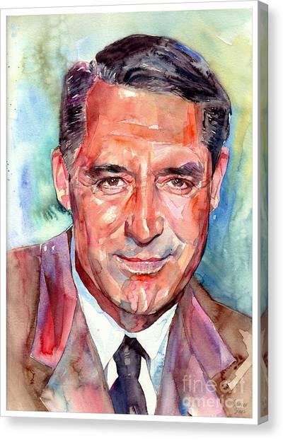Bristol Canvas Print - Cary Grant Portrait by Suzann Sines