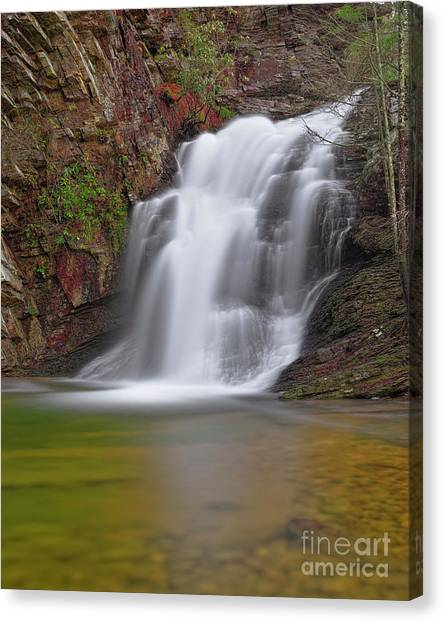 Canvas Print featuring the photograph Cascade 1 by Patrick M Lynch