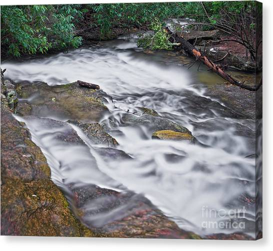 Canvas Print featuring the photograph Cascade 3 by Patrick M Lynch