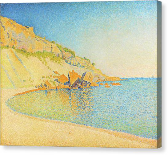Signac Canvas Print - Cassis, Cap Lombard - Digital Remastered Edition by Paul Signac