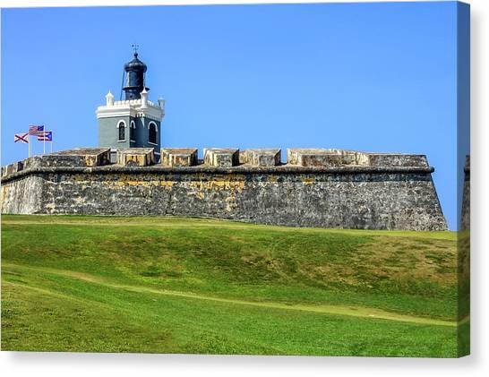 Canvas Print featuring the photograph Castillo San Felipe Del Morro, Old San Juan, Puerto Rico by Dawn Richards