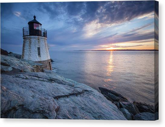 Castle Hill Light Sunset Canvas Print