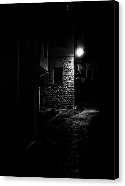 Alley In The Castle Of Ioannina Canvas Print