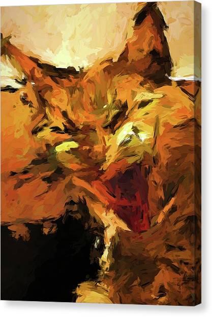 Cat Cathartic Scream Canvas Print