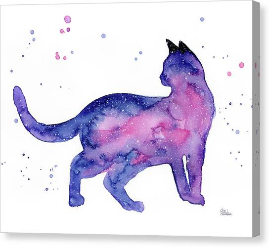 All Star Canvas Print - Cat In Space by Olga Shvartsur