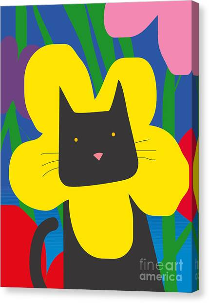 Amaryllis Canvas Print - Cat Look 1 by Artistan
