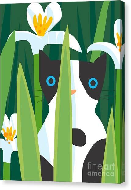 Amaryllis Canvas Print - Cat Look 2 by Artistan