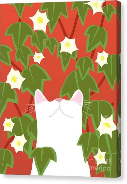 Amaryllis Canvas Print - Cat Look 5 by Artistan