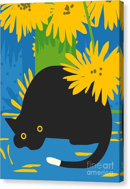 Amaryllis Canvas Print - Cat Look 6 by Artistan