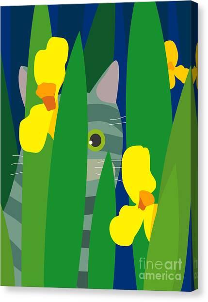 Amaryllis Canvas Print - Cat Look 9 by Artistan