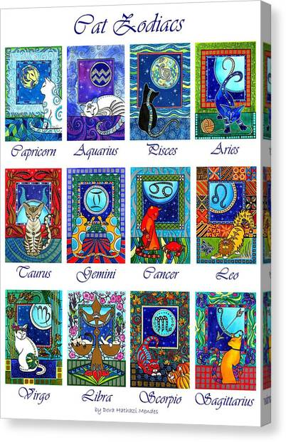 Cat Zodiac Astrological Signs Canvas Print