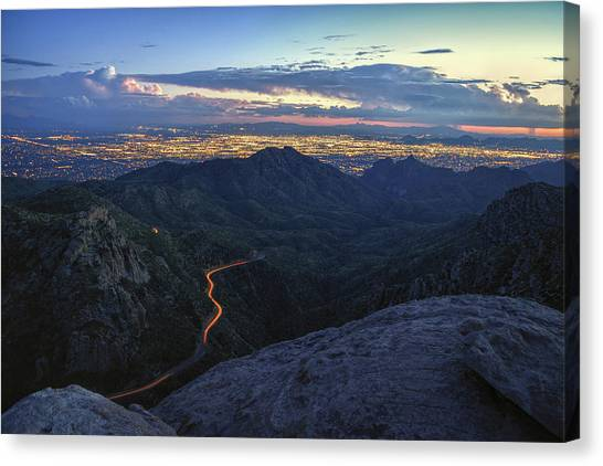 Canvas Print featuring the photograph Catalina Highway And Tucson by Chance Kafka