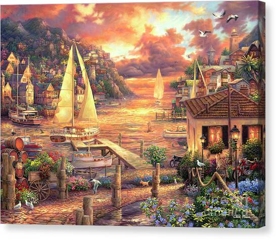 Imagination Canvas Print - Catching Dreams by Chuck Pinson