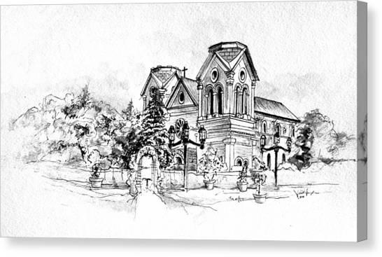 Cathedral Basilica Of St. Francis Of Assisi - Santa Fe, New Mexico Canvas Print