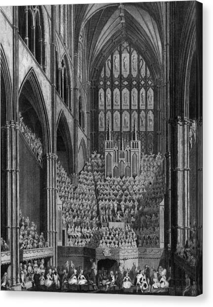 Cathedral Orchestra Canvas Print by Hulton Archive
