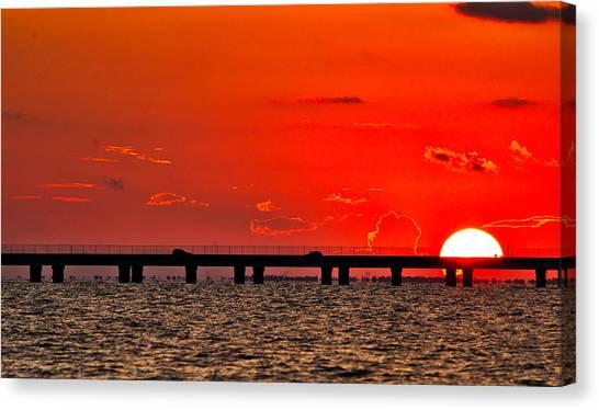 Causeway Sunset Canvas Print