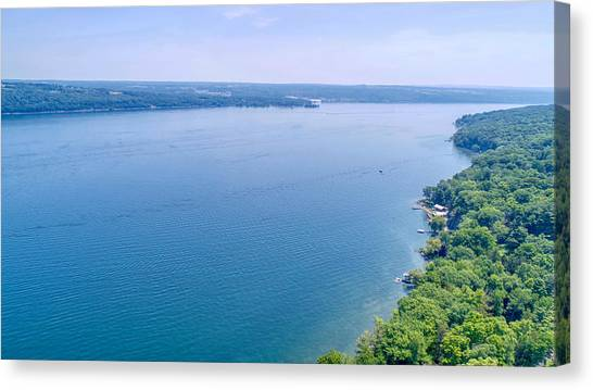 Cayuga From Above Canvas Print